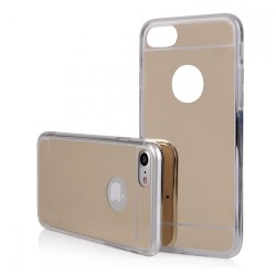 Funda Gel Tpu Efecto Espejo Dorada para Iphone 7 Plus / 8 Plus