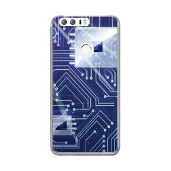 Funda Gel Tpu para Huawei Honor 8 Diseño Circuito Dibujos