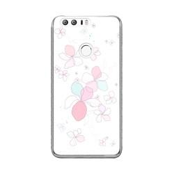 Funda Gel Tpu para Huawei Honor 8 Diseño Flores-Minimal Dibujos