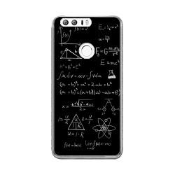 Funda Gel Tpu para Huawei Honor 8 Diseño Formulas Dibujos