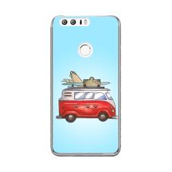 Funda Gel Tpu para Huawei Honor 8 Diseño Furgoneta Dibujos