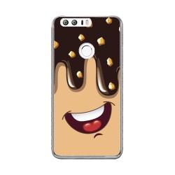Funda Gel Tpu para Huawei Honor 8 Diseño Helado Chocolate Dibujos
