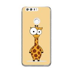 Funda Gel Tpu para Huawei Honor 8 Diseño Jirafa Dibujos