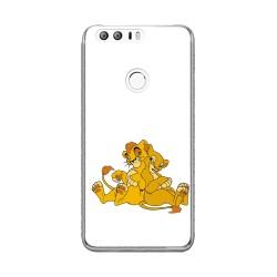Funda Gel Tpu para Huawei Honor 8 Diseño Leones Dibujos