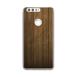 Funda Gel Tpu para Huawei Honor 8 Diseño Madera Dibujos
