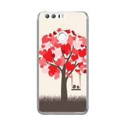 Funda Gel Tpu para Huawei Honor 8 Diseño Pajaritos Dibujos