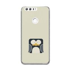 Funda Gel Tpu para Huawei Honor 8 Diseño Pingüino Dibujos