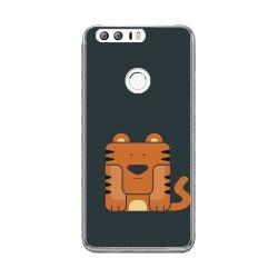 Funda Gel Tpu para Huawei Honor 8 Diseño Tigre Dibujos