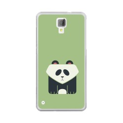 Funda Gel Tpu para Hisense C20 King Kong II Diseño Panda Dibujos