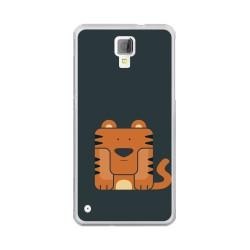Funda Gel Tpu para Hisense C20 King Kong II Diseño Tigre Dibujos