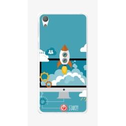 Funda Gel Tpu para Sony Xperia E5 Diseño Cohete Dibujos