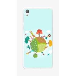 Funda Gel Tpu para Sony Xperia E5 Diseño Familia Dibujos