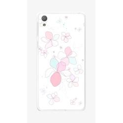 Funda Gel Tpu para Sony Xperia E5 Diseño Flores-Minimal  Dibujos