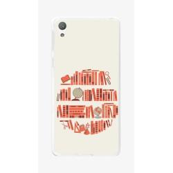Funda Gel Tpu para Sony Xperia E5 Diseño Mundo-Libro Dibujos