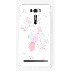 "Funda Gel Tpu para Asus Zenfone 2 Laser 6"" Ze601Kl Diseño Flores-Minimal Dibujos"