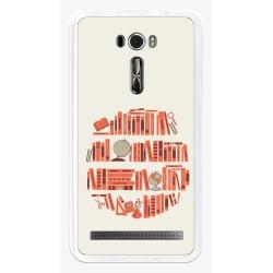 "Funda Gel Tpu para Asus Zenfone 2 Laser 6"" Ze601Kl Diseño Mundo-Libro Dibujos"