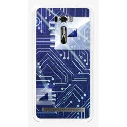 """Funda Gel Tpu para Asus Zenfone 2 Laser 6"""" Ze601Kl Diseño Circuito Dibujos"""