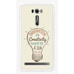 "Funda Gel Tpu para Asus Zenfone 2 Laser 6"" Ze601Kl Diseño Creativity Dibujos"