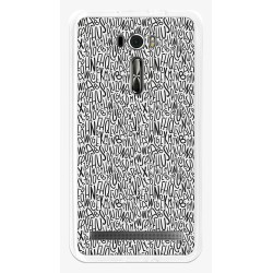 "Funda Gel Tpu para Asus Zenfone 2 Laser 6"" Ze601Kl Diseño Letras Dibujos"