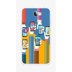 Funda Gel Tpu para Huawei Y5 Ii / Y6 II Compact Diseño Apps Dibujos
