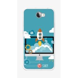 Funda Gel Tpu para Huawei Y5 Ii / Y6 II Compact Diseño Cohete Dibujos