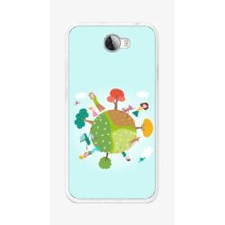 Funda Gel Tpu para Huawei Y5 Ii / Y6 II Compact Diseño Familia Dibujos