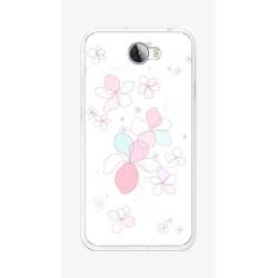 Funda Gel Tpu para Huawei Y5 Ii / Y6 II Compact Diseño Flores-Minimal Dibujos