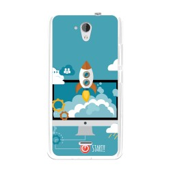 Funda Gel Tpu para Hisense F20 Diseño Cohete Dibujos