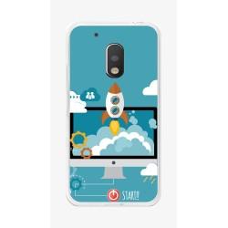 Funda Gel Tpu para Motorola Moto G4 Play Diseño Cohete Dibujos