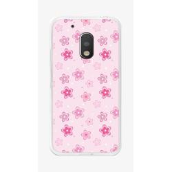 Funda Gel Tpu para Motorola Moto G4 Play Diseño Flores Dibujos
