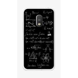 Funda Gel Tpu para Motorola Moto G4 Play Diseño Formulas Dibujos