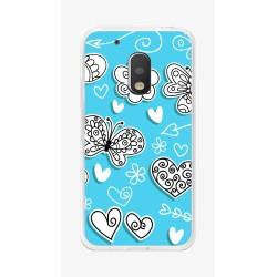 Funda Gel Tpu para Motorola Moto G4 Play Diseño Mariposas Dibujos