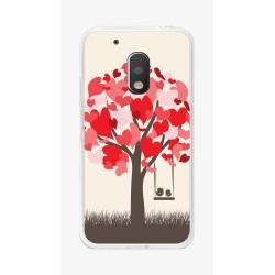 Funda Gel Tpu para Motorola Moto G4 Play Diseño Pajaritos Dibujos