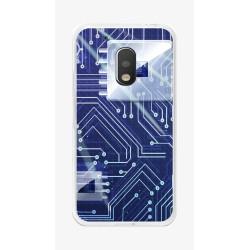 Funda Gel Tpu para Motorola Moto G4 Play Diseño Circuito Dibujos