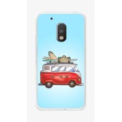 Funda Gel Tpu para Motorola Moto G4 Play Diseño Furgoneta Dibujos