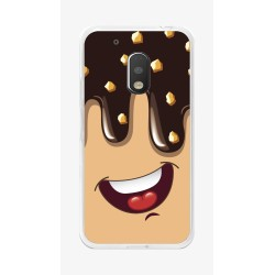 Funda Gel Tpu para Motorola Moto G4 Play Diseño Helado Chocolate Dibujos