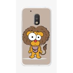 Funda Gel Tpu para Motorola Moto G4 Play Diseño Leon Dibujos