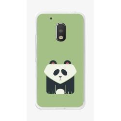 Funda Gel Tpu para Motorola Moto G4 Play Diseño Panda Dibujos