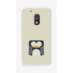 Funda Gel Tpu para Motorola Moto G4 Play Diseño Pingüino Dibujos