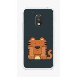 Funda Gel Tpu para Motorola Moto G4 Play Diseño Tigre Dibujos