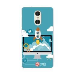 "Funda Gel Tpu para Xiaomi Redmi Pro 5.5"" Diseño Cohete Dibujos"