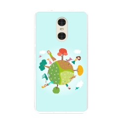 "Funda Gel Tpu para Xiaomi Redmi Pro 5.5"" Diseño Familia Dibujos"