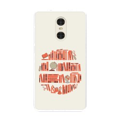 "Funda Gel Tpu para Xiaomi Redmi Pro 5.5"" Diseño Mundo-Libro Dibujos"