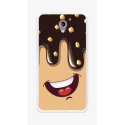 Funda Gel Tpu para Zte Blade A510 Diseño Helado Chocolate Dibujos