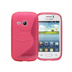 Funda Gel Tpu Samsung Galaxy Young S6310 S Line Color Rosa