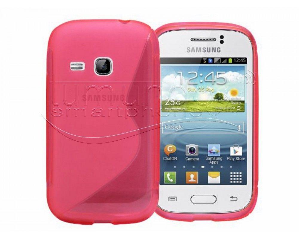 Funda Gel Tpu Samsung Galaxy Young S6310 S Line Color Rosa