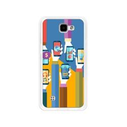 Funda Gel Tpu para Lg K4 Diseño Apps Dibujos