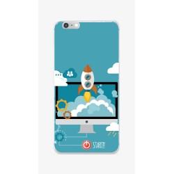 Funda Gel Tpu para Iphone 6 / 6S Diseño Cohete Dibujos