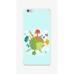 Funda Gel Tpu para Iphone 6 / 6S Diseño Familia Dibujos