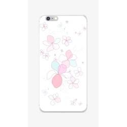 Funda Gel Tpu para Iphone 6 / 6S Diseño Flores-Minimal Dibujos